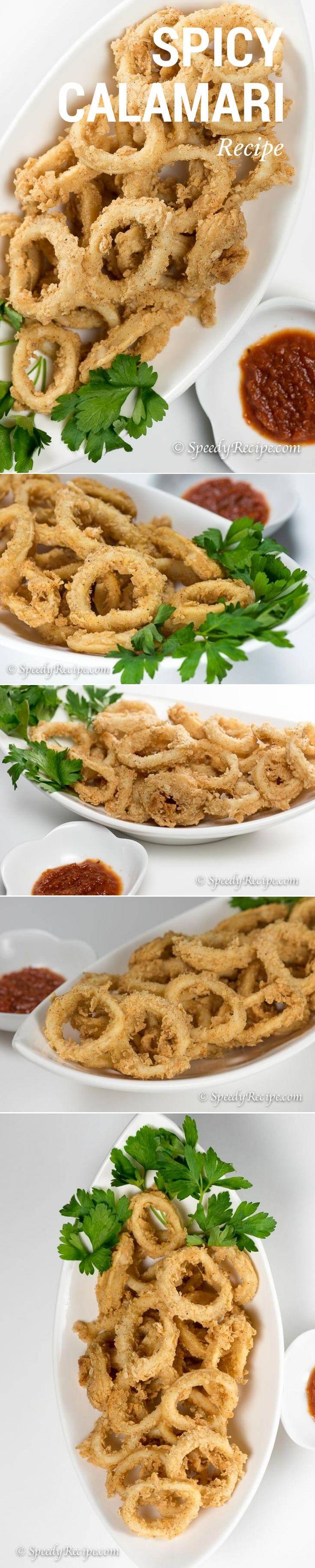 Spicy Calamari - speedyrecipe.com