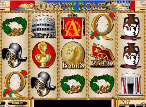 Слот автомат Luxury Rome реални пари онлайн. Богатството на Древен Рим, все още впечатляващи археолози и любители на историята. Те също така вдъхновен iSoftbet студио, за да се създаде прекрасна слот машина, озаглавена Luxury Rome. Ето, играчът ще бъде много начини да се спечел�