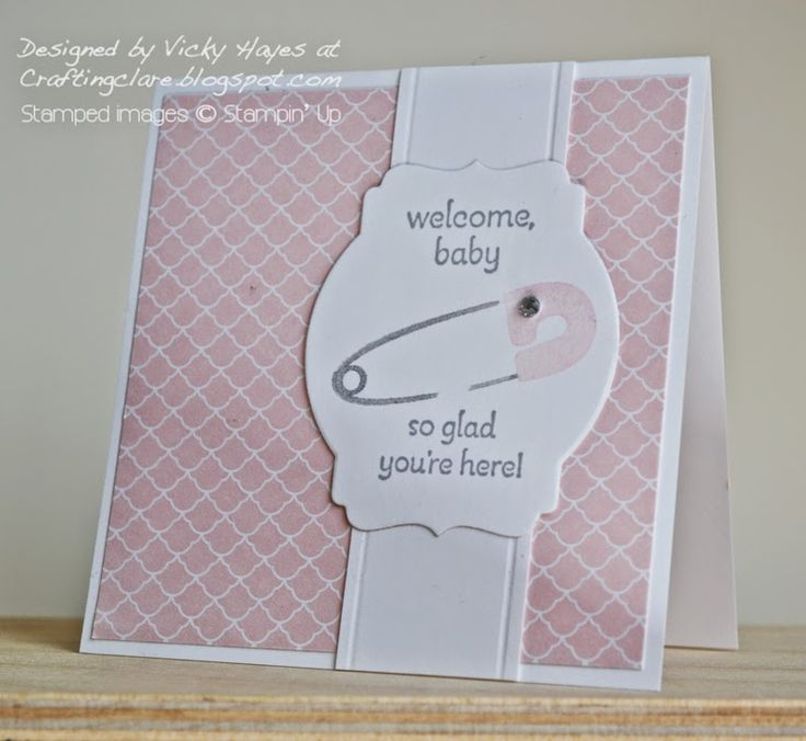 Something for Baby from Stampin Up - for a little girl - Stampin Up ideas and supplies from Vicky at Crafting Clares Paper Moments