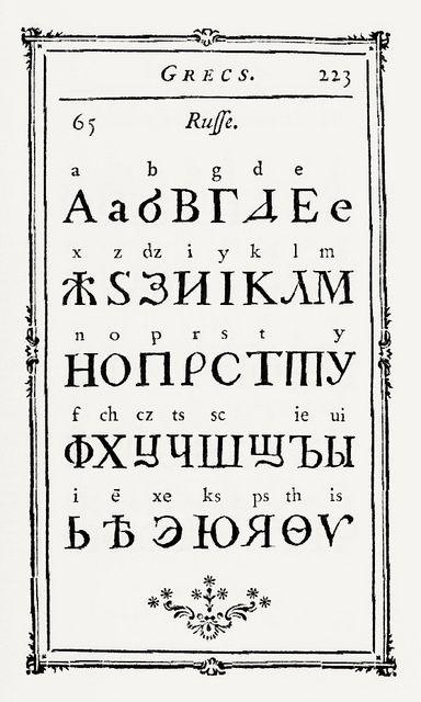 Оld and modern languages аlphabets - P. S. Fournier - 1766
