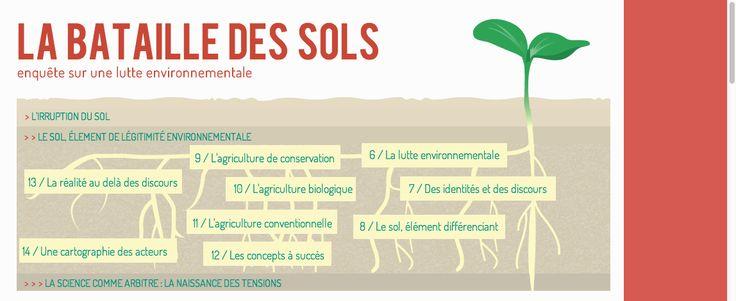 la bataille des sols, Sciences Po 2013. Site web architecture is driven by topics. http://www.i-m.co/sols/bataille_des_sols/la-crise-agricole-1.html