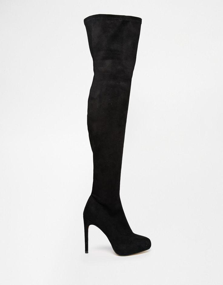Bild 2 von ASOS – KILL JOY – Overknee-Stiefel mit Plateausohle