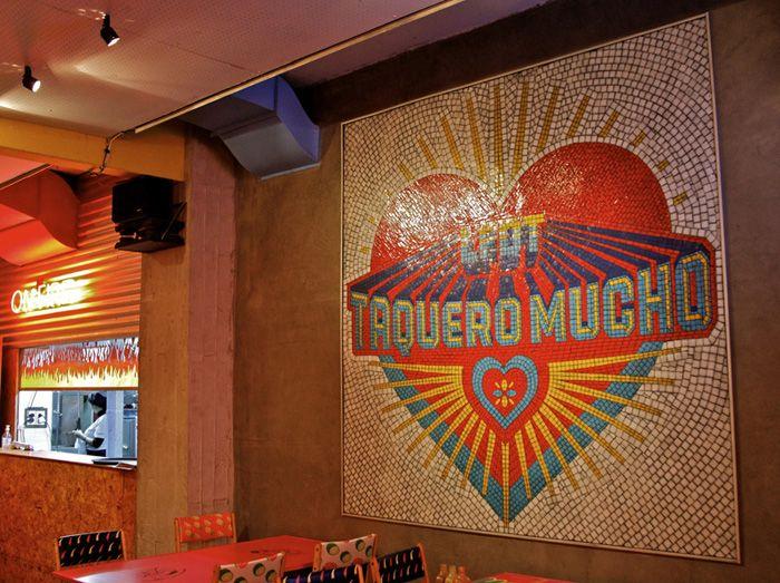Mural Taquero Mucho Detalle Mural Mosaiquismo
