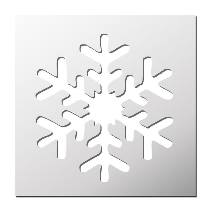 Pochoir Flocon de neige