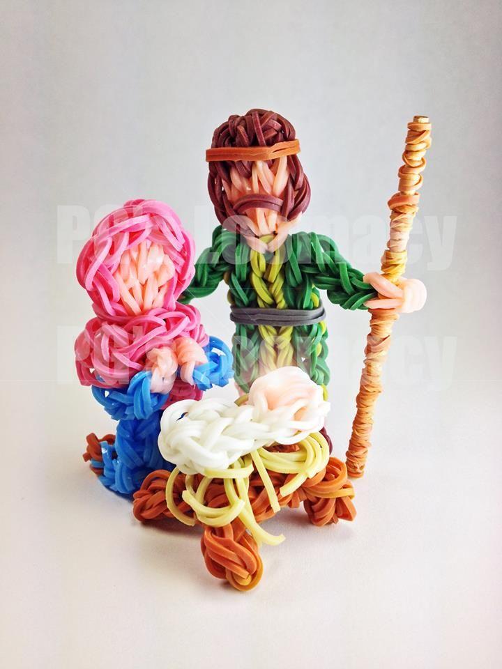 Rainbow Loom Christmas creation - NOOOOOOO. There are no instructions!