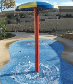 Splash Pad in your own back yard. This looks fun!