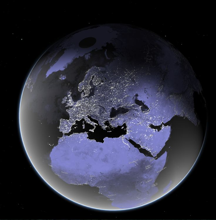 Earth at Night 3D web scene map