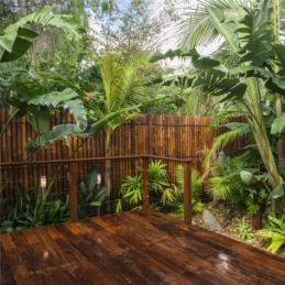 Balinese Garden: Merbau Decking