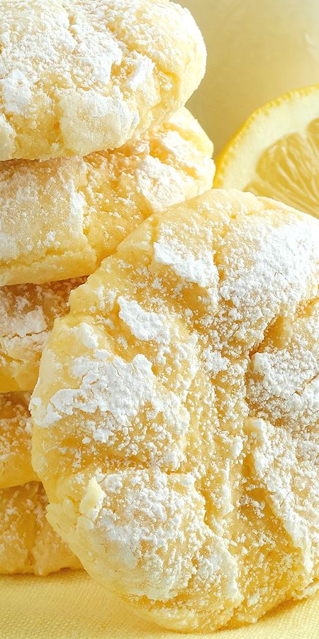Lemon Gooey Butter Cookies ~ Deliciousness made wi…
