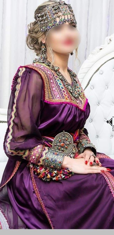 جبة قبايل لباس جزائري تقليدي 2020عروس شان و همة Robe Kabyle Afghan Clothes Clothes Design Fashion
