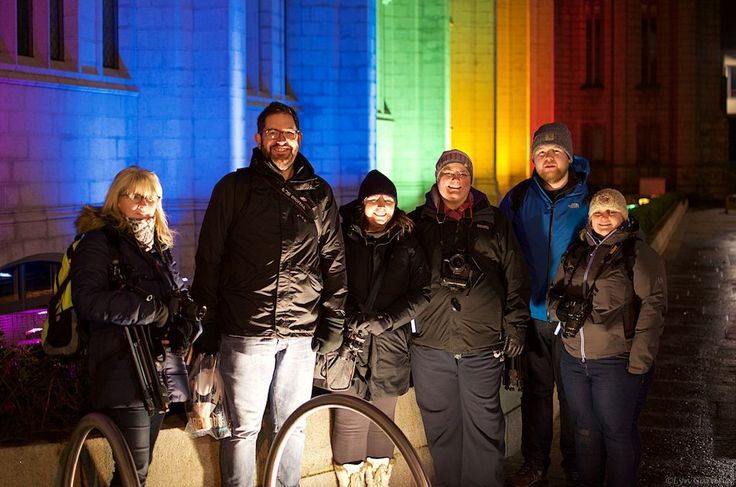 Wow. What a great night we had at last night's Creative Night Photography workshop at @spectraaberdeen. We all managed to get some good shots and the festival itself was brilliant. Can't wait until next year!  Here's the team at the end of the night. Thanks to Lyn Gardner for taking our photo.  #spectraabdn #visitabdn #Team30se #aberdeenadored #rainbow