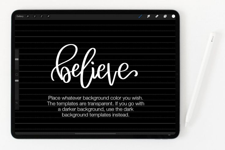 Download PROCREATE LETTERING GRID PACK | Procreate lettering ...