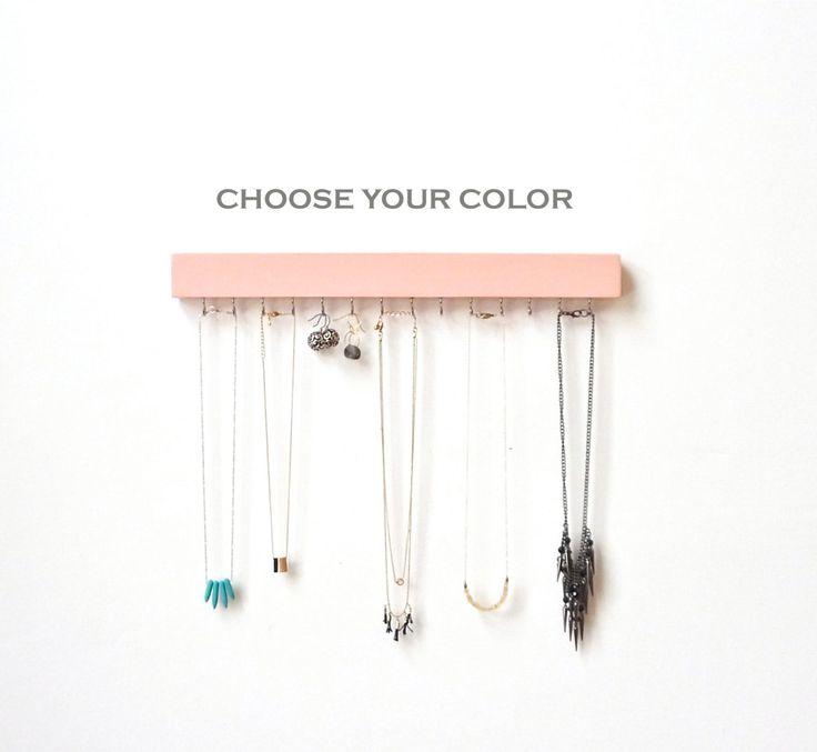 Diy Modern Hanging Jewelry Organizer: 1000+ Ideas About Necklace Storage On Pinterest