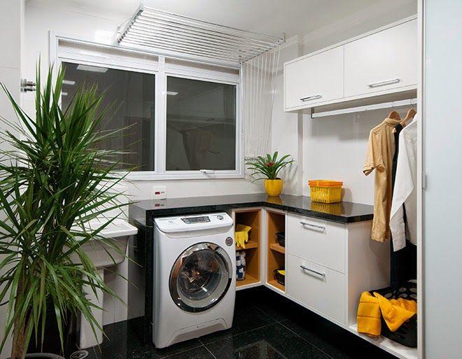 Apê em Decoração: Lavanderia pequena? Veja soluções para esse ambiente.