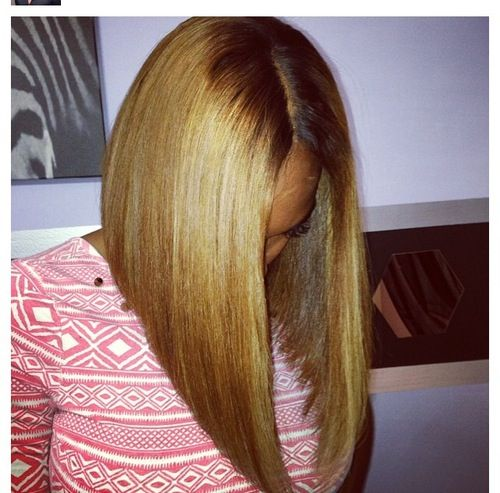 honey blonde long angled bob | hair | Pinterest | Follow ...