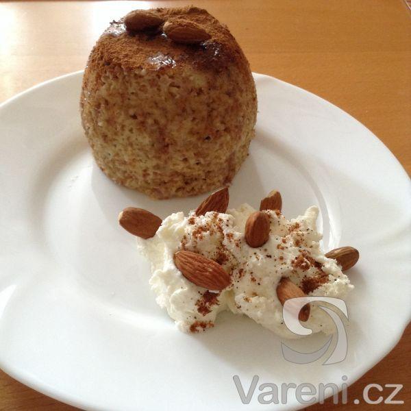 Snadný a zdravý recept na vaření v mikrovlnné troubě. Mugcake je ideální ke snídani.