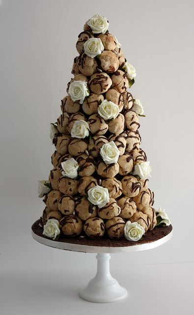 chocolate profiterole tower