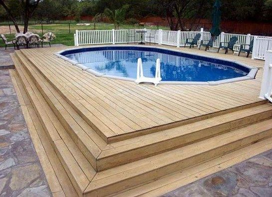 above ground pool deck plans gallery