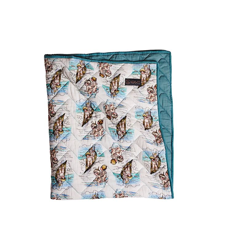 MAY GIBBS X KIP&CO SURFS UP COT QUILT  