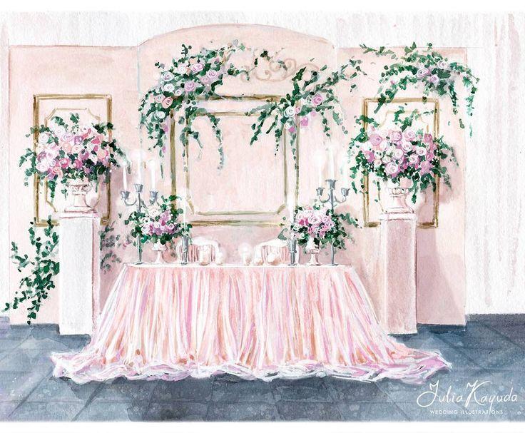 """34 Likes, 1 Comments - i0sik Юлия Каюда (@i0sikkayuda91) on Instagram: """"И теперь немного поближе, чтоб лучше было видно) акварельный эскиз #illustrations #weddingdecor…"""""""