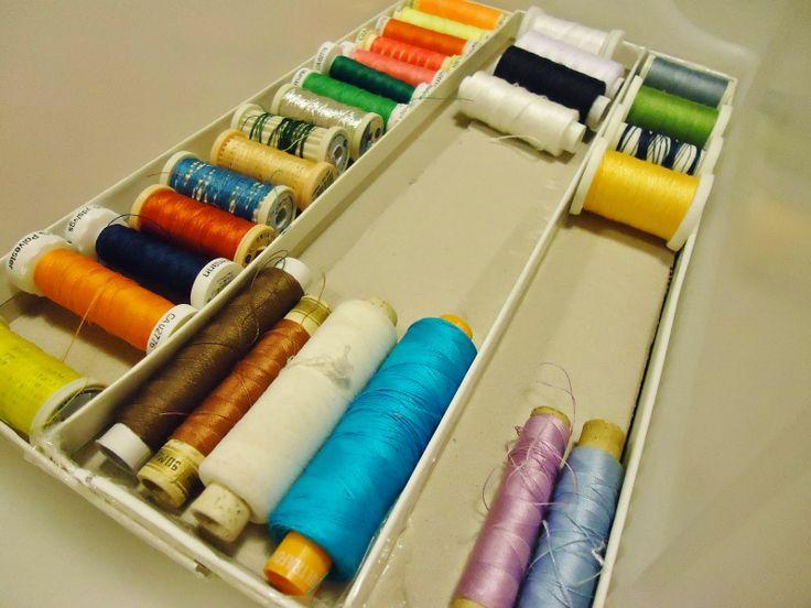 DIY onderverdeling maken voor je naaigaren in naaikoffertje
