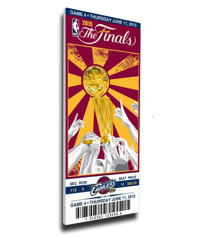 Cleveland Cavaliers Wall Art - 2015 NBA Finals Game 4 Canvas Mega Ticket