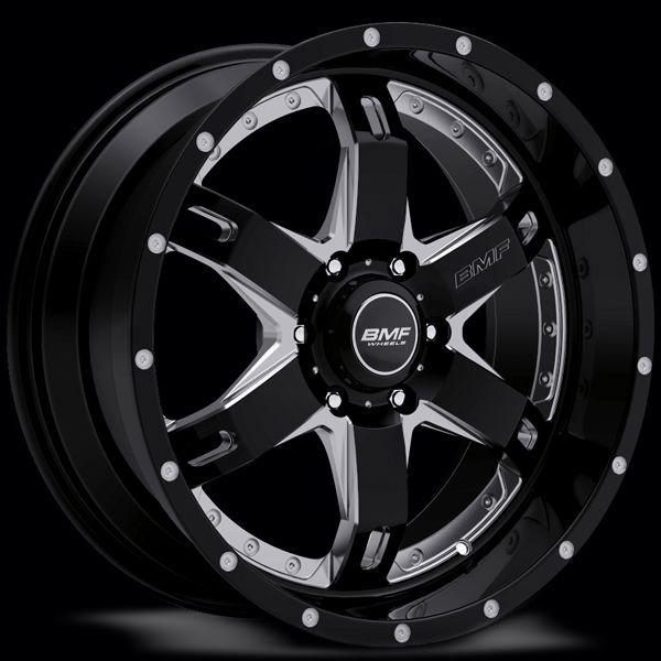 R.E.P.R. Black & Chrome Truck Wheels | Custom R.E.P.R 4x4 Wheels by BMF