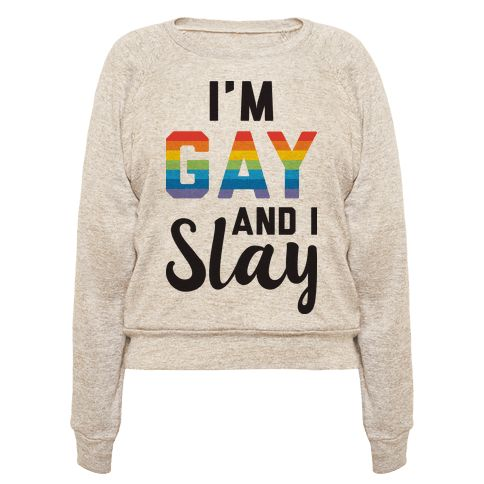 "Yas queen! Work your gay pride with this ""I'm Gay And I Slay"" LGBT pride design! Perfect to show your pride, queerness, gayness, queer humor, coming out, gay quotes, and that you slay queen!"