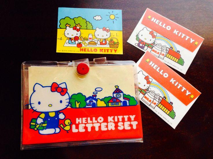 1976 hello kitty letter set