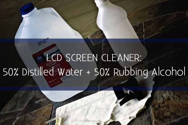 Simple effective recipe for an LCD or plasma screen cleaner.
