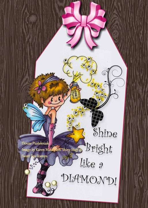 Denise using Karen Middleton Shiny Stuff