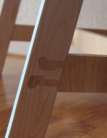 Pressure fit half lap joints. Table by Keenan Keeley.
