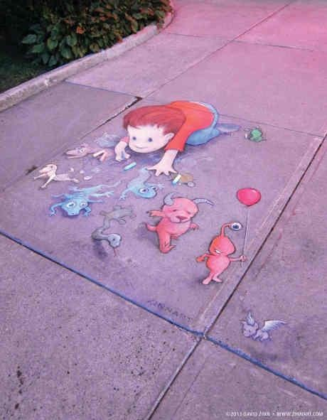Best David Zinn Art Images On Pinterest David Zinn Street - David zinns 3d chalk art adorably creative