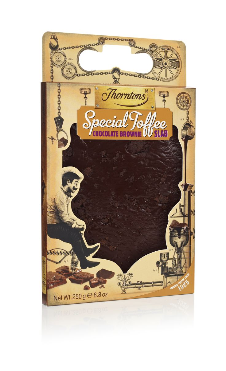 #Thorntons Special #Toffee slab - #chocolate brownie!