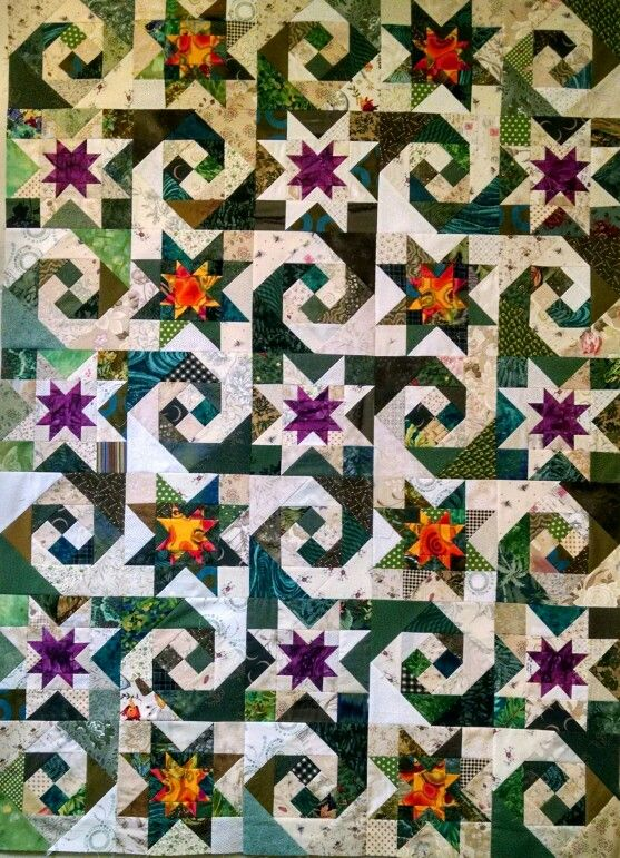 Snail trail star quilt