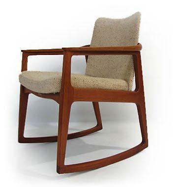 Sigvard Bernadotte Teak Rocking Chair
