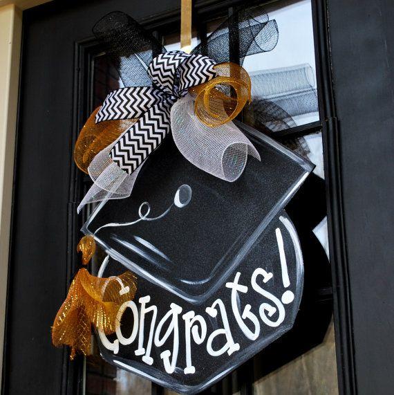 Graduation Wreath Graduation Door Hanger by LooLeighsCharm on Etsy, $ 45.00