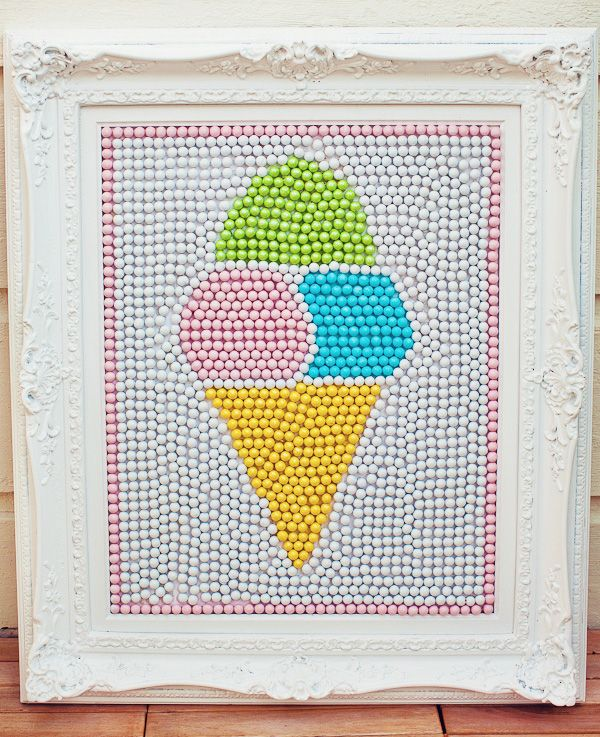 Awwwwwwww: Sixlet Candy, Ice Cream Parties, Sweet Parties, Birthday Parties, Football Parties, Parties Ideas, Candy Art, Cream Art, Ice Cream Cones
