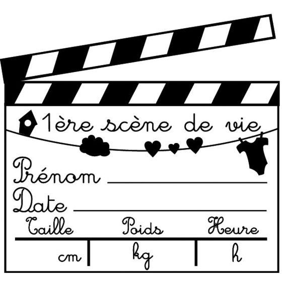 Tampon scrapbooking en bois - naissance : Tampons et encres par ...