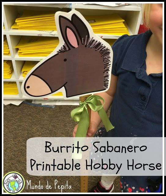 Burrito Sabanero villancico song props- How my elementary Spanish students sing and move along to this traditional Christmas carol. #navidad Mundo de Pepita, Resources for Teaching Spanish to Children