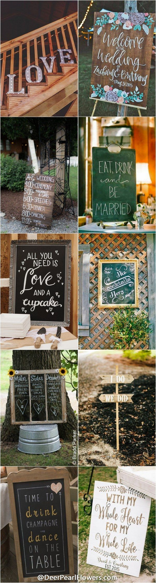 Rustic wedding signs / http://www.deerpearlflowers.com/30-rustic-wedding-signs-ideas-for-weddings/