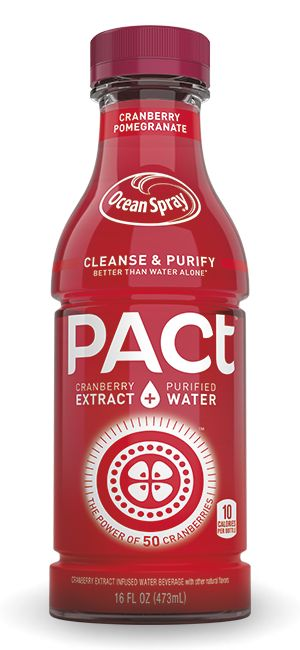 Ocean Spray® PACt® cranberry extract water