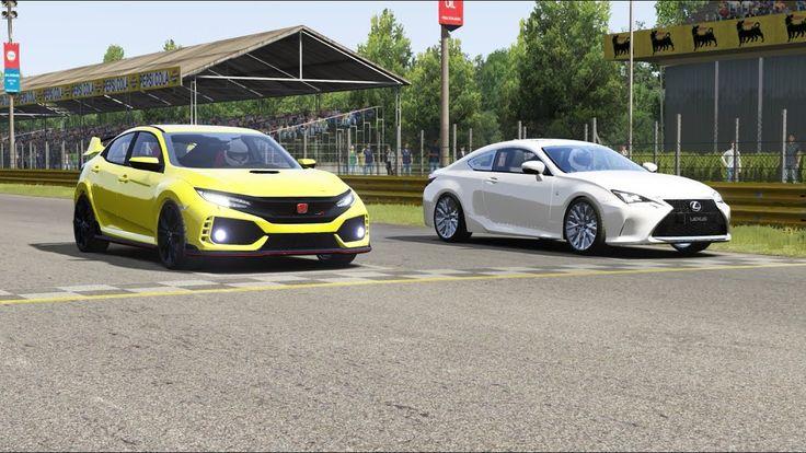Honda Civic TypeR ( FK8 ) vs Lexus RC350 at Monza Full