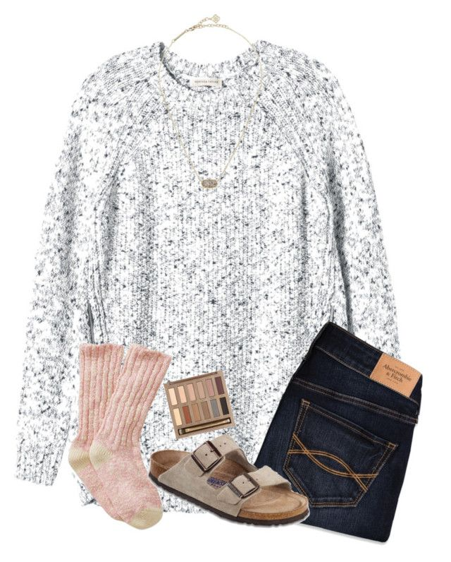 """""""""""and nothings ever good enough, i wrote a little song for ya"""""""" by samanthars ❤ liked on Polyvore featuring Rebecca Taylor, Abercrombie & Fitch, Birkenstock, Kendra Scott and Urban Decay"""