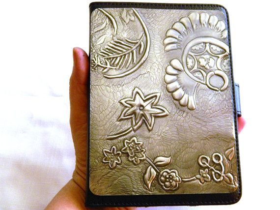 Ultra Thin Slim Leather Kindle Cover Case Floral Design by Loutul, £39.00
