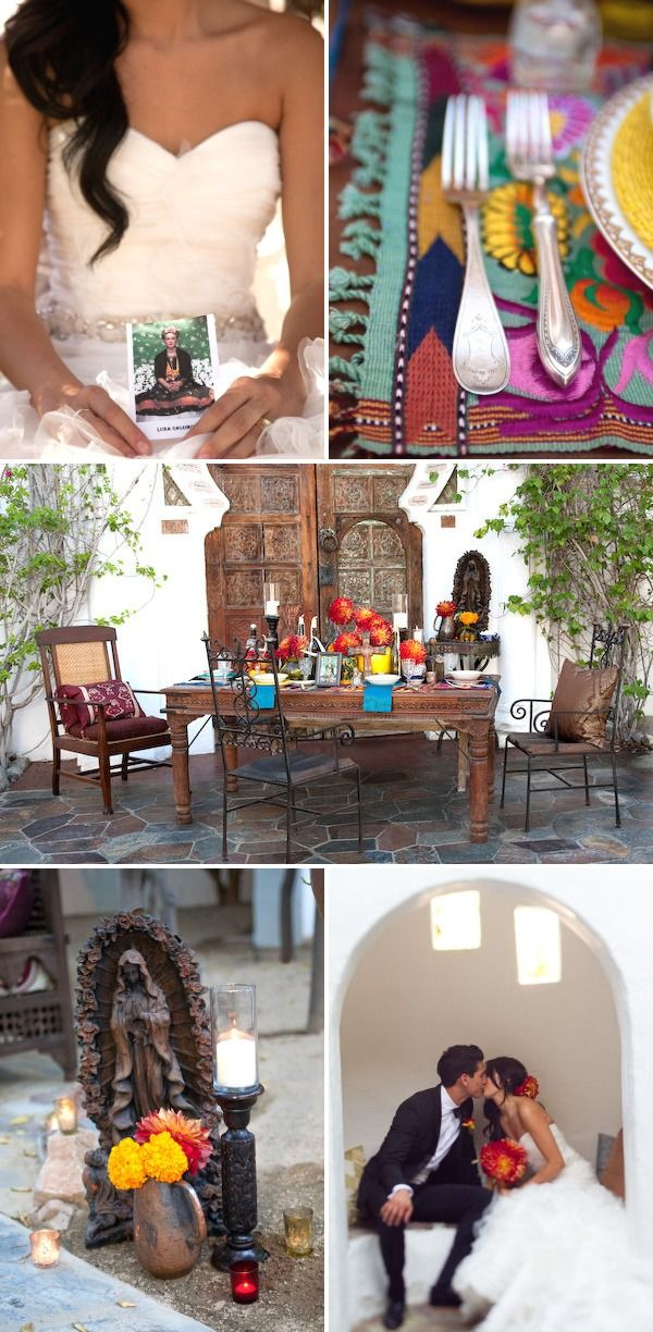 Latin: Palm Springs Wedding Inspired by Frida Kahlo by Isabel Lawrence Photography | Style Me Pretty