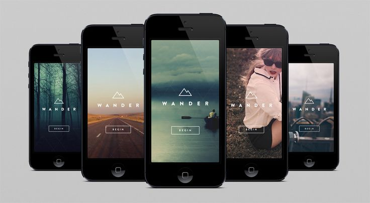 Wander - animated iPhone concept | Design: UI/UX. Apps. Websites | Dave Gamache |