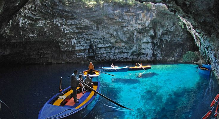 Melisani Cave Lake, Kefalonia, Greece