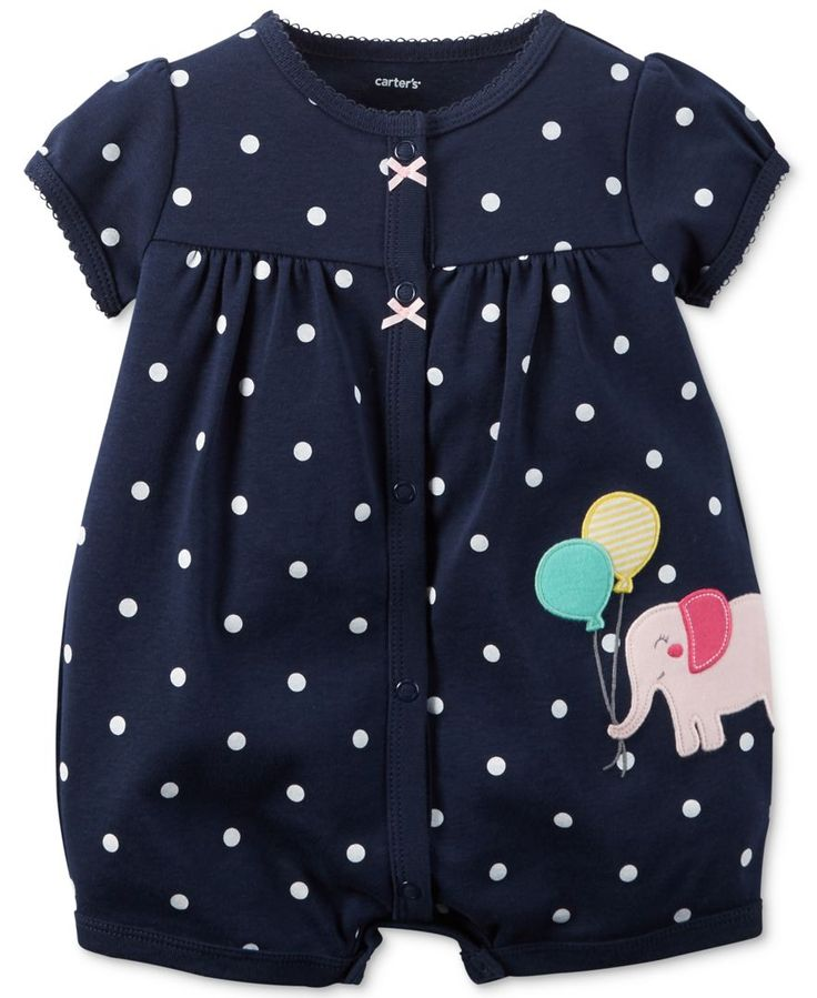 Carter's Baby Girls' Elephant Romper