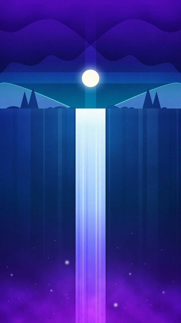 Rgb leuchtet zimmer sky waterfall iphone wallpaper  iphone wallpapers  pinterest